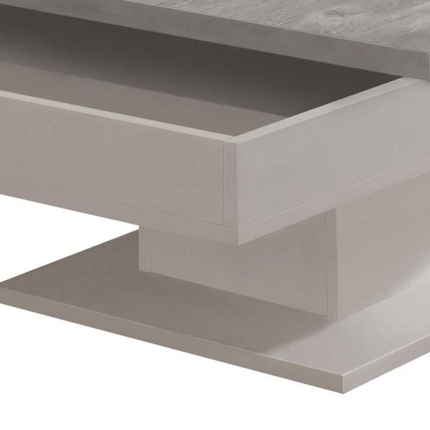 Konferenční stolek GRANNY bílá matná/beton 4