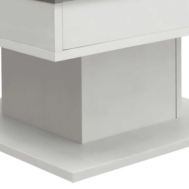 Konferenční stolek GRANNY bílá matná/beton 6