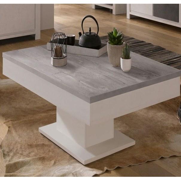 Konferenční stolek GRANNY bílá matná/beton 2