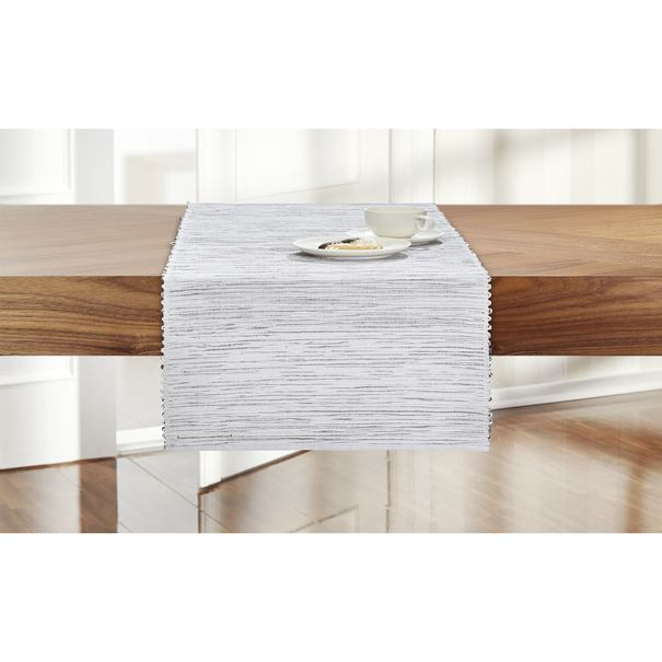 Sconto Behúň na stôl GRÉTA sivá