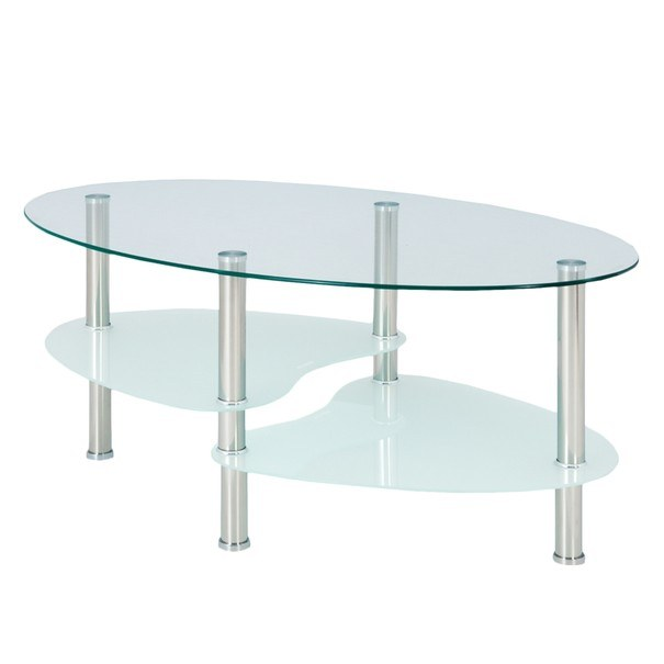 Konferenční stolek HAMBURG sklo/ocel 1