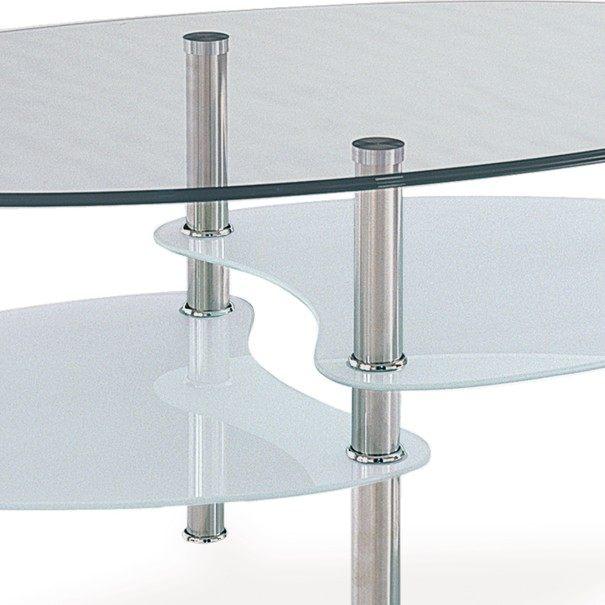 Konferenční stolek HAMBURG sklo/ocel 2