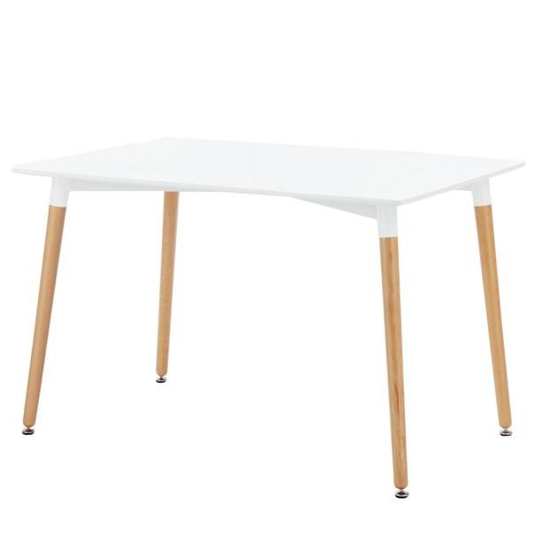Sconto Jedálenský stôl HENRY biela/buk, 120 cm.