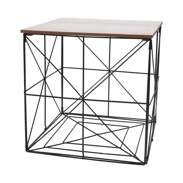 Odkládací stolek  HILARY černá/přírodní 1