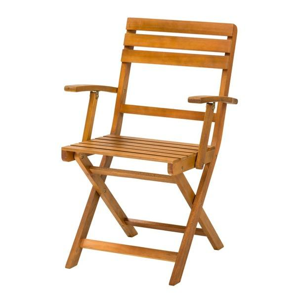 Sconto Zahradní židle HOLSTEIN eukalyptus - nábytek SCONTOnábytek.cz