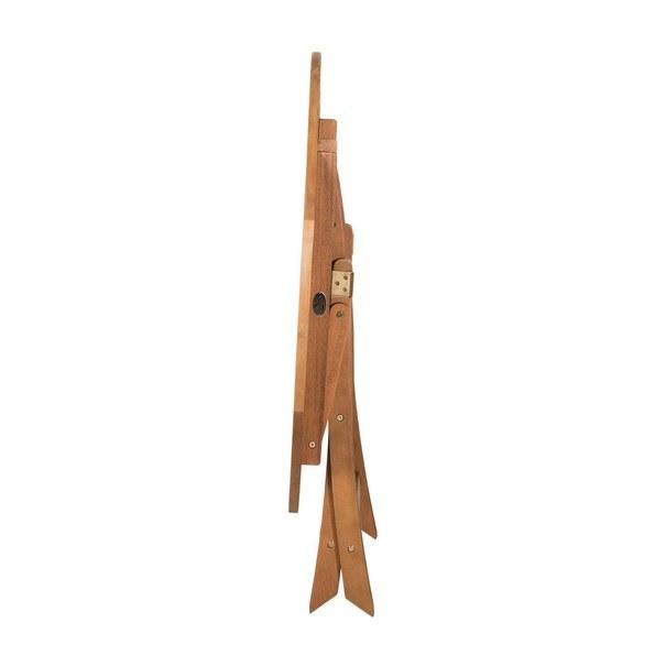 Kulatý skládací stolek HOLSTEIN eukalyptus 3