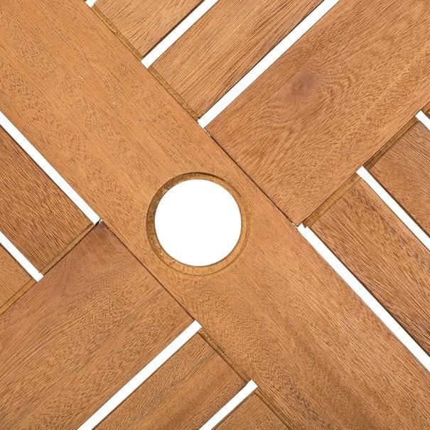 Kulatý skládací stolek HOLSTEIN eukalyptus 4