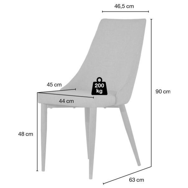 Jídelní židle HOWARD šedá 9