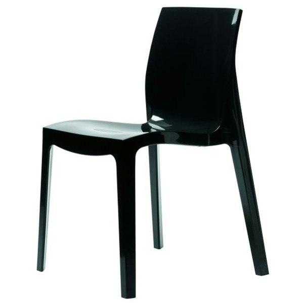 Jedálenská stolička ICE HIGLOPP čierna 1