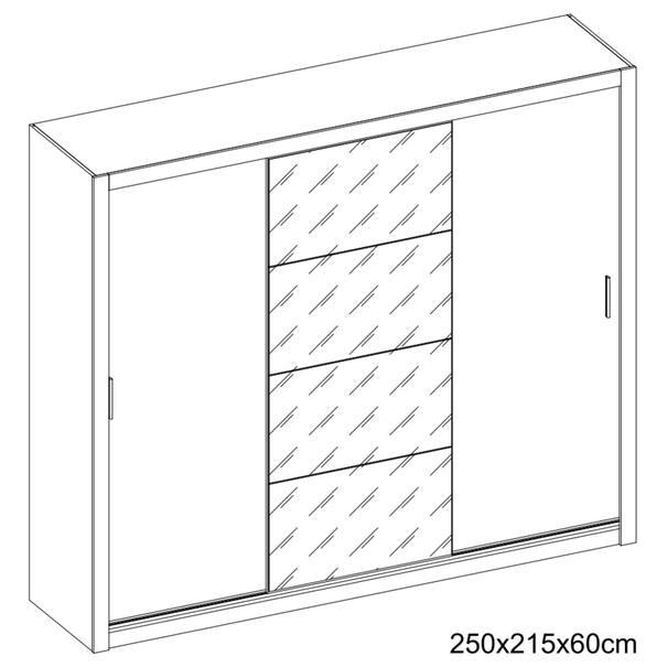 Šatní skříň IDEA 01 matná bílá 4