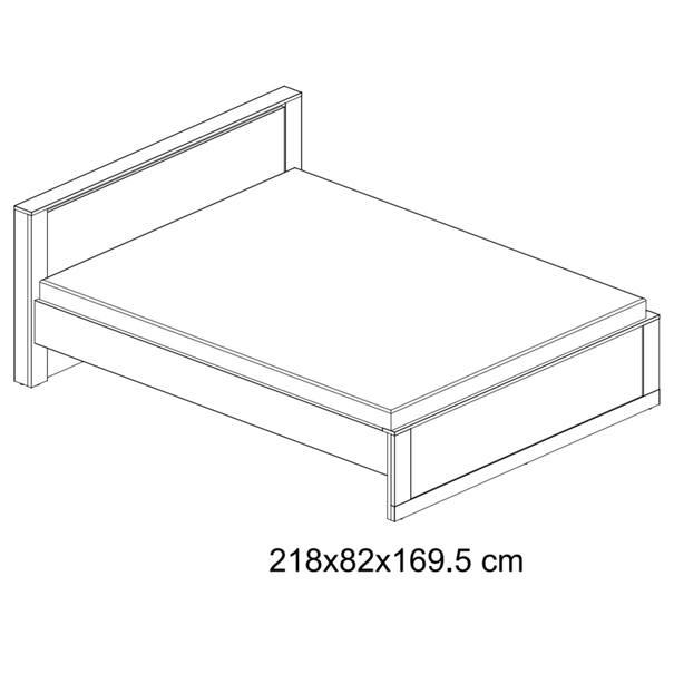Postel s roštem IDEA 08 bílá matná, 160x200 cm 5