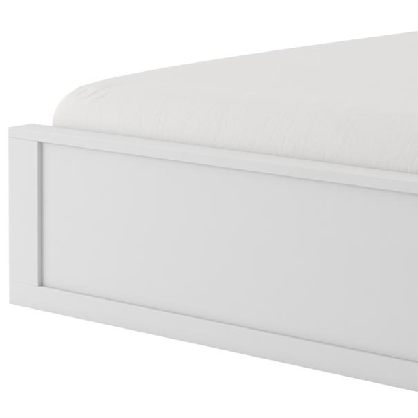 Posteľ s roštom IDEA biela matná, 180x200 cm 3