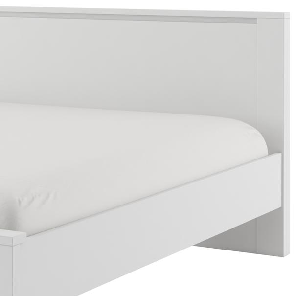 Posteľ s roštom IDEA biela matná, 180x200 cm 4