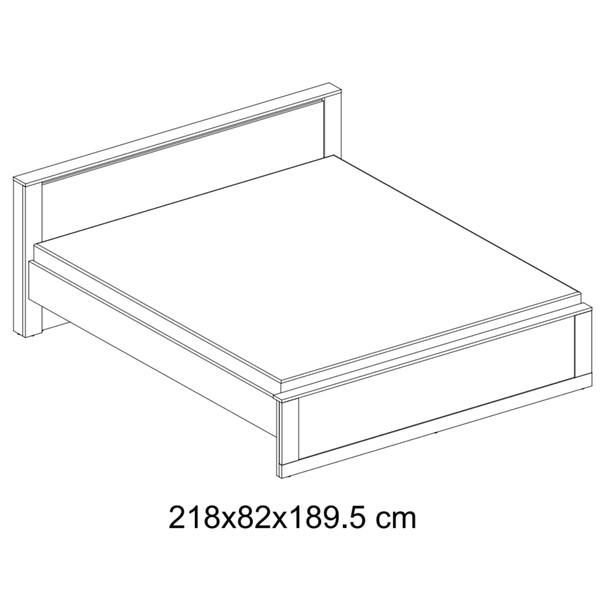 Posteľ s roštom IDEA biela matná, 180x200 cm 6