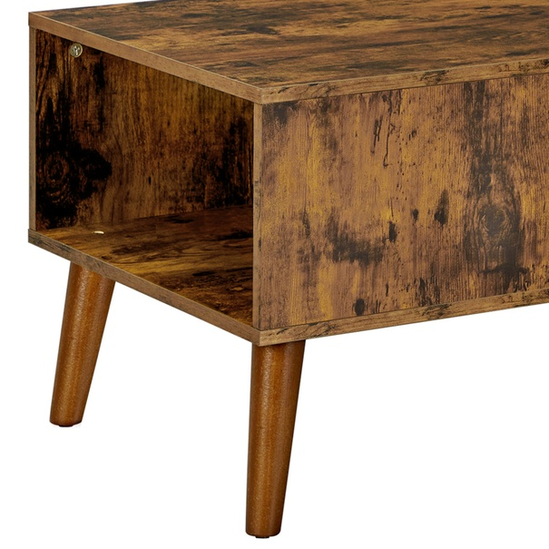 Konferenční stolek IMATRA černá/hnědá 7