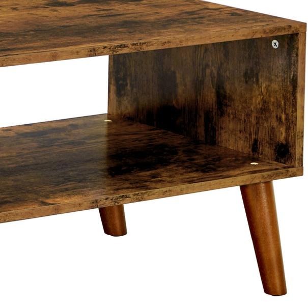 Konferenční stolek IMATRA černá/hnědá 8