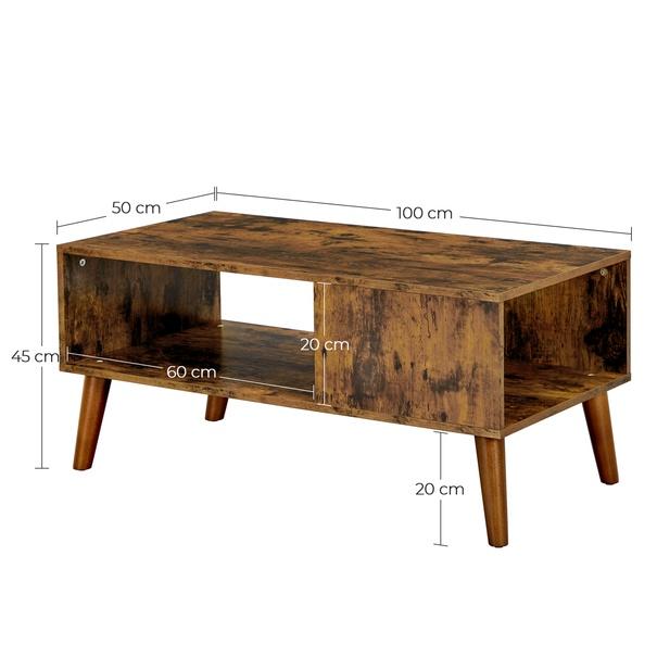 Konferenční stolek IMATRA černá/hnědá 10