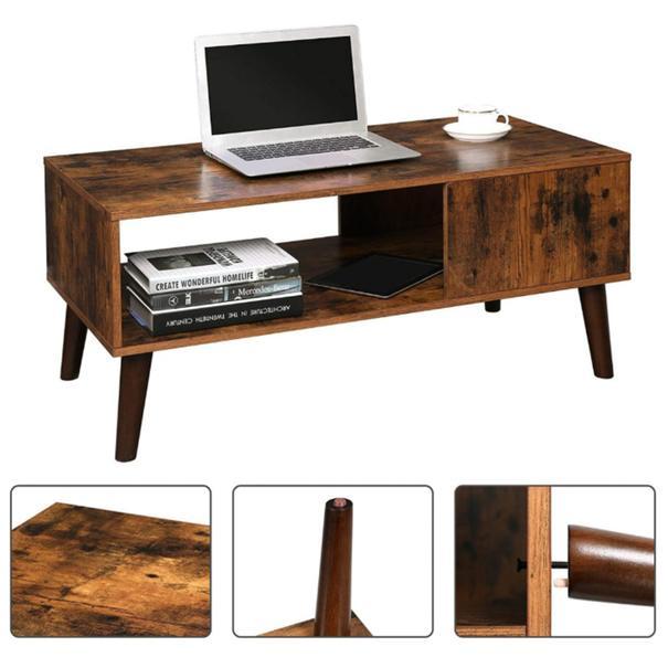 Konferenční stolek IMATRA černá/hnědá 9