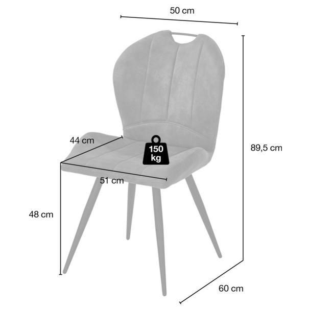 Jídelní židle INGO tmavě šedá 7