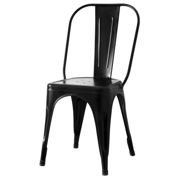 Stolička IRON čierna/železo 1