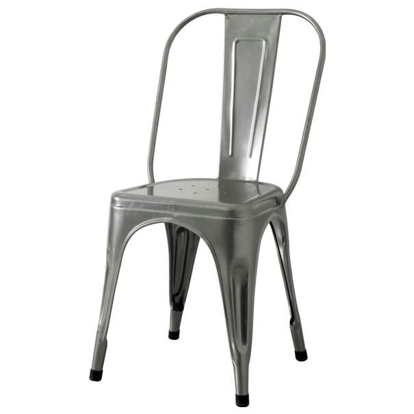 Stolička IRON sivá/železo 1