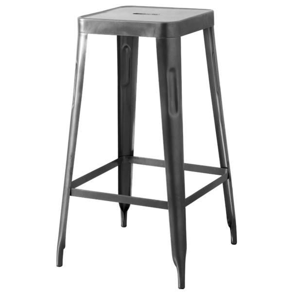 Barová židle IRON natur/železo 1