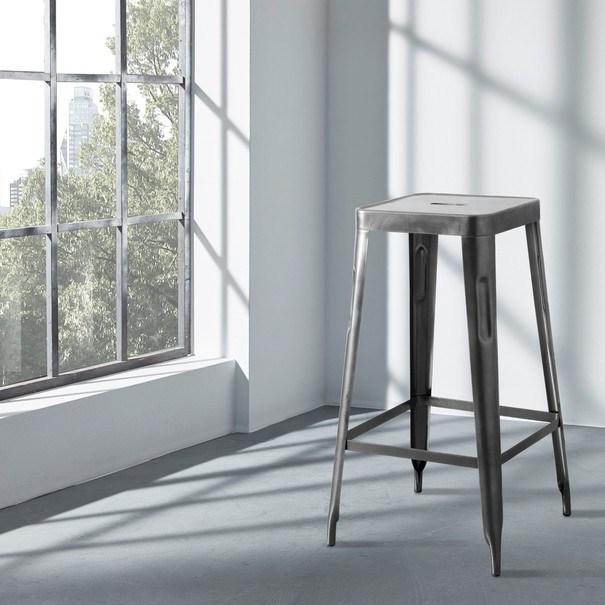 Barová stolička IRON natur/železo 2