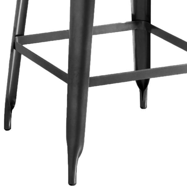 Barová stolička IRON natur/železo 4