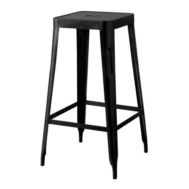 Barová stolička IRON čierna/železo 1
