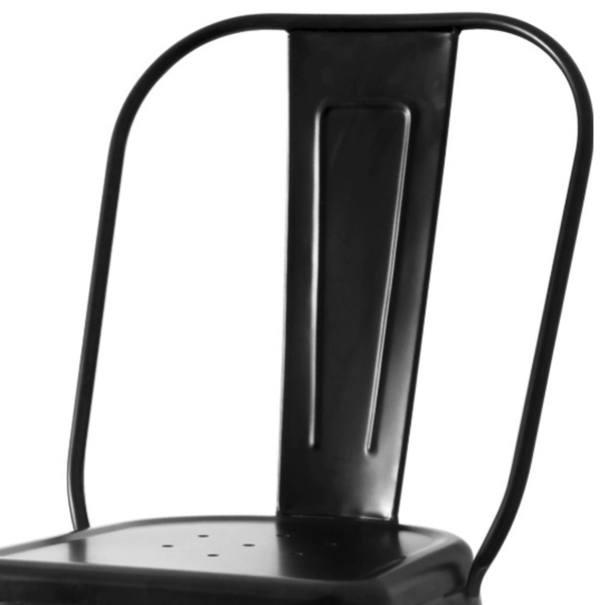 Jedálenská stolička IRON čierna/železo 2