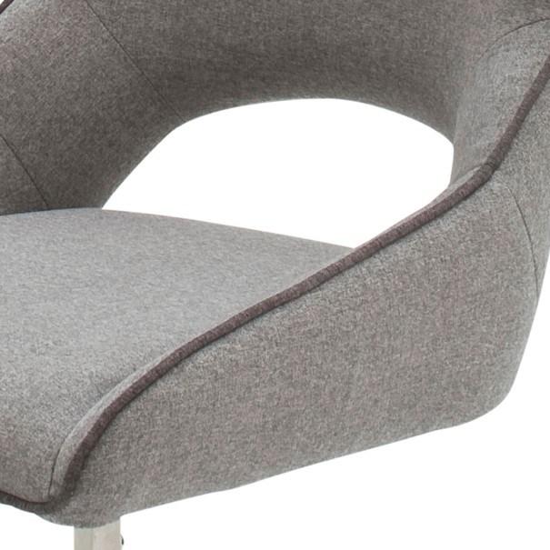Jedálenská stolička ISLA svetlosivá 4