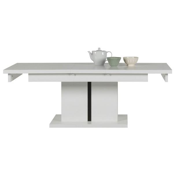 Konferenčný stolík IVONA biela, rozkladací 114-144 cm 3