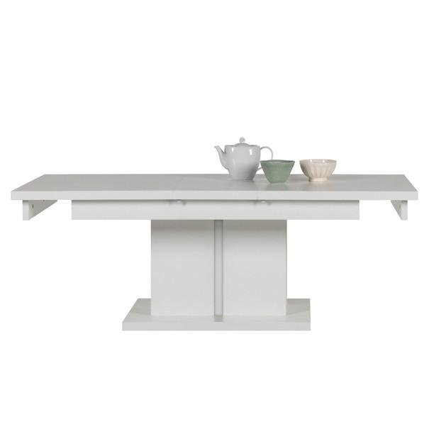 Konferenčný stolík IVONA biela, rozkladací 114-144 cm 6