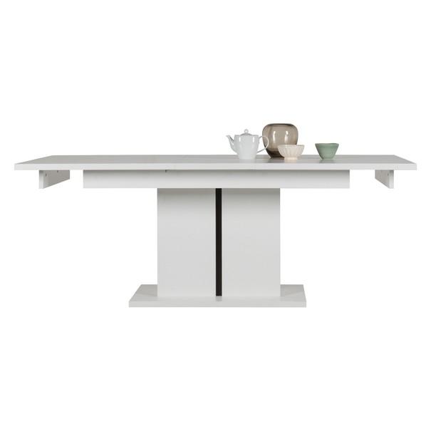 Jedálenský stôl IVONA biela, rozkladací 160-200 cm 3