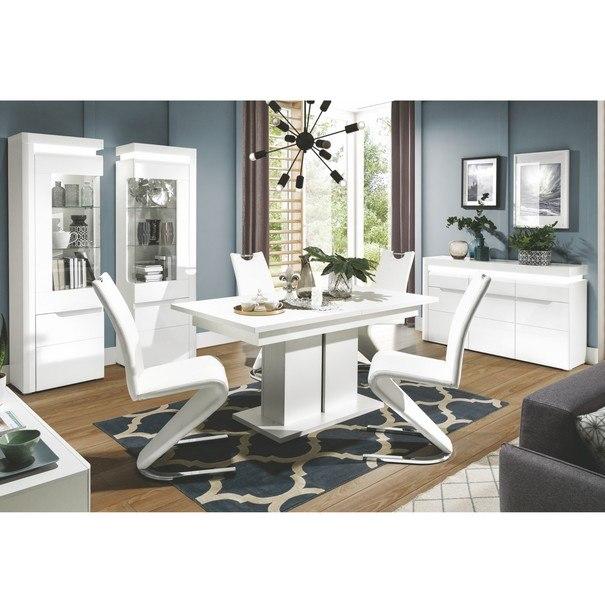 Jedálenský stôl IVONA biela, rozkladací 160-200 cm 6