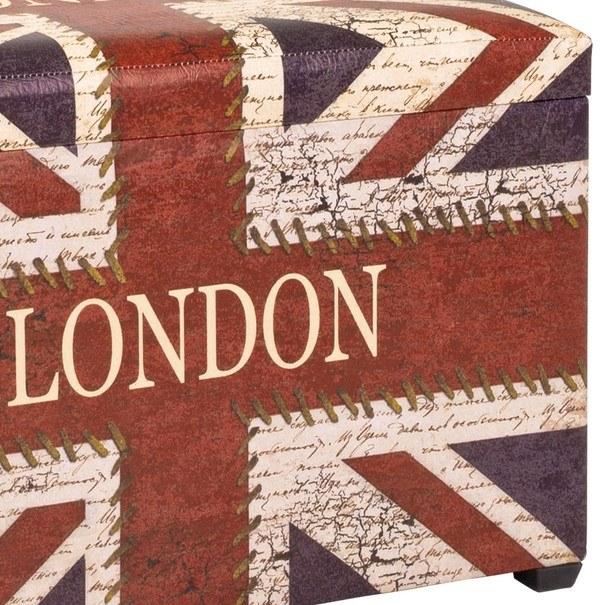 Truhla se sedákem  JACK potisk London 3
