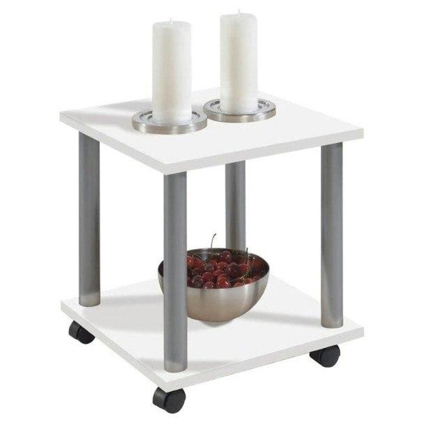 Přístavný stolek JANGO 11 bílá/kov 1