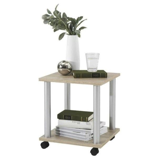 Přístavný stolek JANGO 11 dub/kov 1