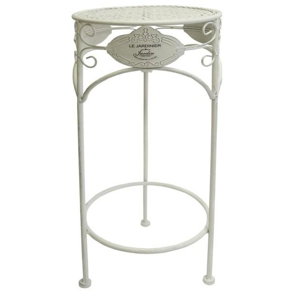 Zahradní stolek  JARDINE V bílá 1