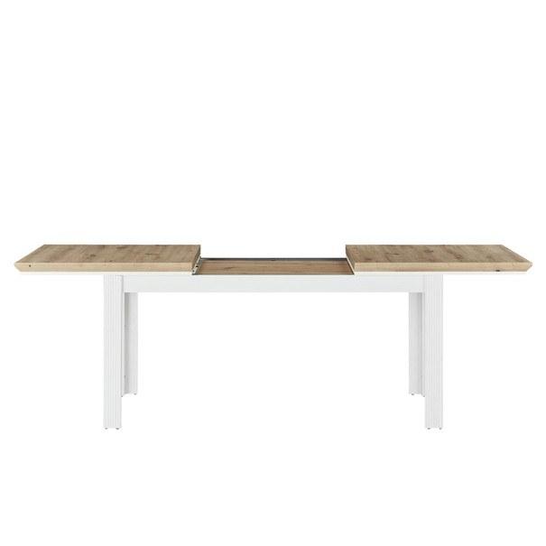 Jídelní stůl JASMIN pinie světlá/dub artisan 3