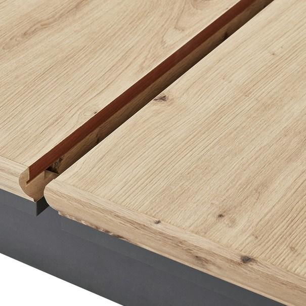 Jídelní stůl JASMIN grafit/dub artisan 4