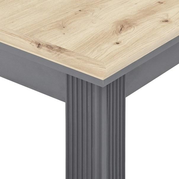 Jídelní stůl JASMIN grafit/dub artisan 7