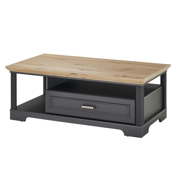 Sconto Konferenční stolek JASMIN grafit/dub artisan - nábytek SCONTO nábytek.cz
