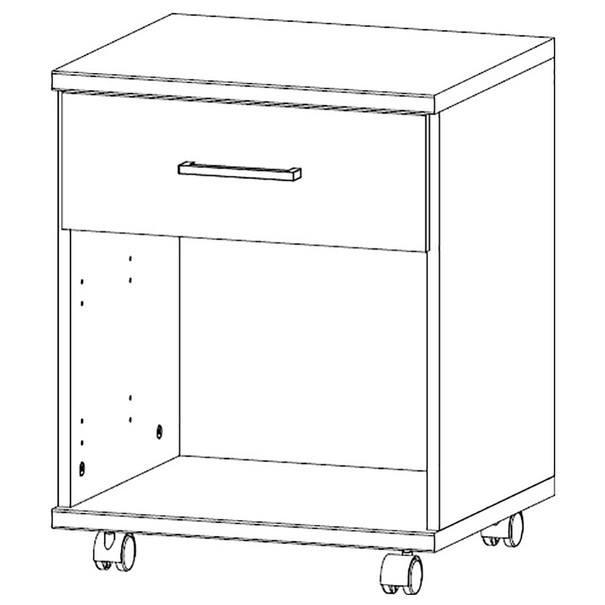 Pojazdný kontajner JOKER 513 biela/grafit 4