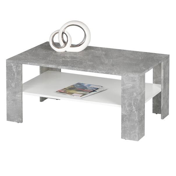 Sconto Konferenční stolek JOKER 66 beton/bílá - nábytek SCONTO nábytek.cz