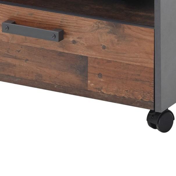 Konferenční stolek JONES antracitová/old style 4