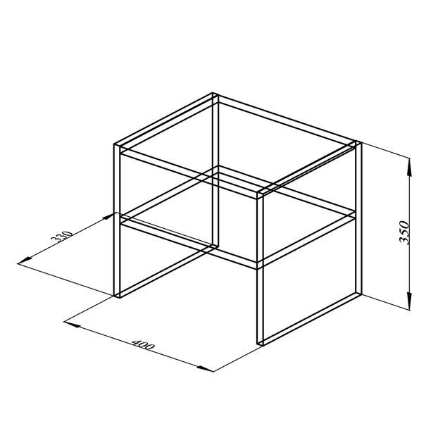 Přístavný stolek JULIA černá 4