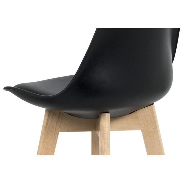 Barová stolička JULIETTE čierna/buk 3