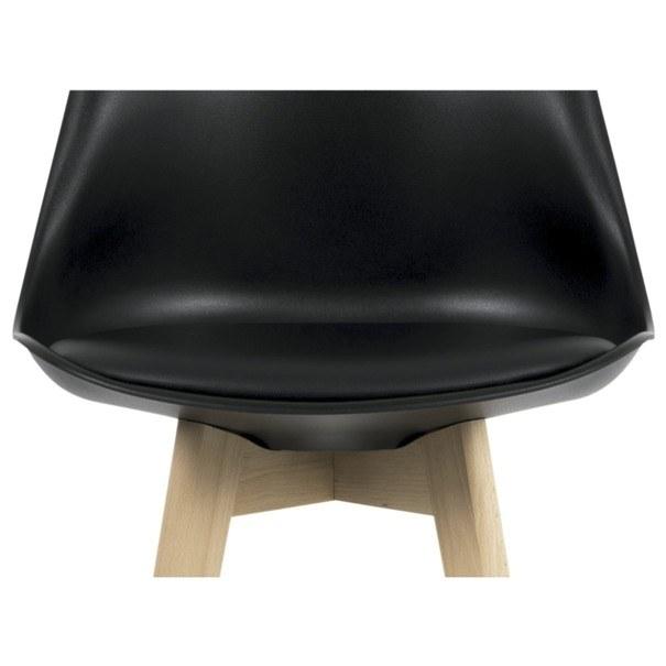 Barová stolička JULIETTE čierna/buk 4