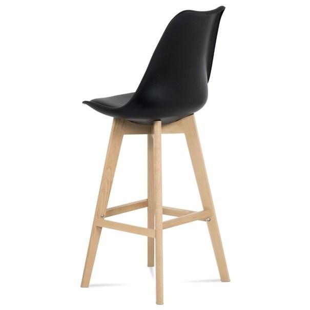 Barová stolička JULIETTE čierna/buk 5